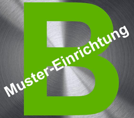 Logo der fiktiven Einrichtung Blumstadt mit einem Wasserzeichen Muster Einrichtung